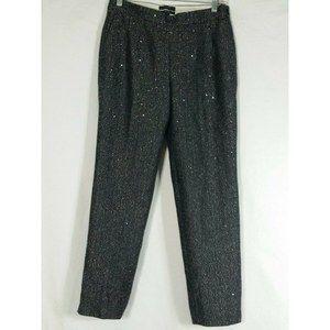 J.Crew Martie Crop herringbone Black pants 2